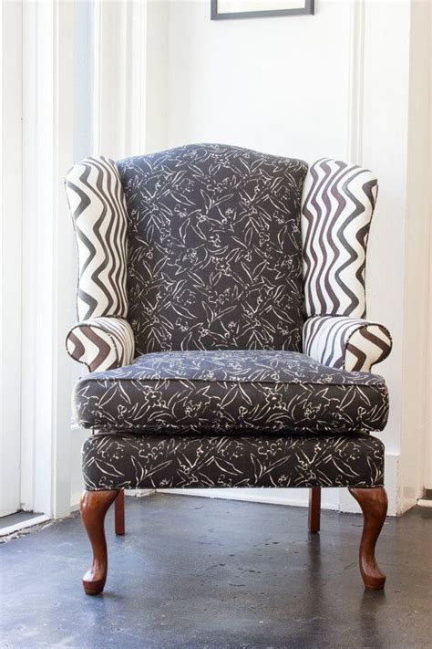 wingback chair upholstery ideas kit kemp fabric upholstered wingback chair by