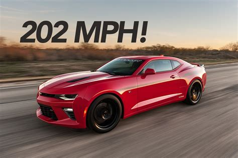 top speed of a camaro 2016 hennessey camaro ss runs 202 mph