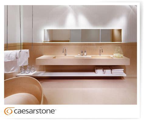 Caesarstone Bathroom Vanity Caesarstone Made Bathroom Vanities Backsplashes Wall Cladding Bathtub And Flooring