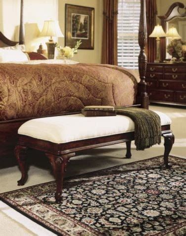 traditional bedroom benches american drew 791 480 bed end bench cherry grove