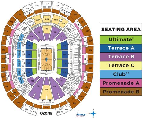 orlando magic seating orlando magic seating chart amway arena seating chart