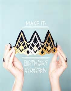 How To Make A Birthday Crown Out Of Construction Paper - make it glittering birthday crowns gatsby