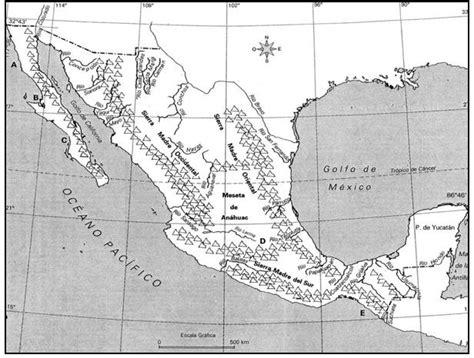 cadenas orograficas principales de mexico gu 237 a de geograf 237 a universal y de m 233 xico para el examen de