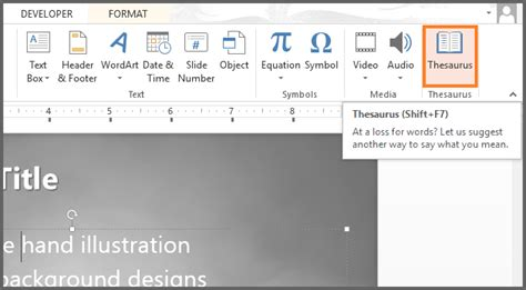 using thesaurus in powerpoint free powerpoint templates