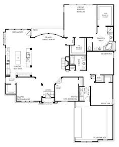 Open Floor House Plans One Story 1000 Ideas About Open Floor Plans On Open Floor Hud Homes And Floor Plans