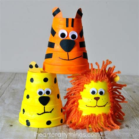 paper cup animals craft adorable foam cup tiger craft i crafty things