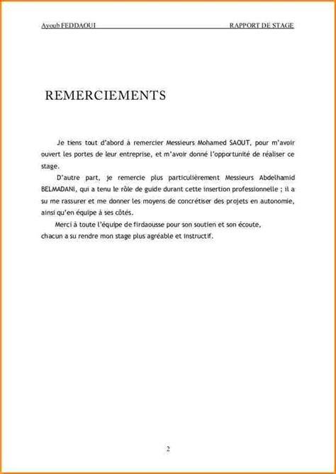 Lettre De Remerciement De Voyage D Affaire 10 Lettre Remerciement Stage Curriculum Vitae Etudiant