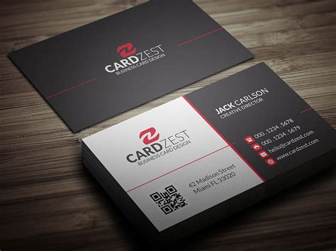 free modern business card template by mengloong on deviantart