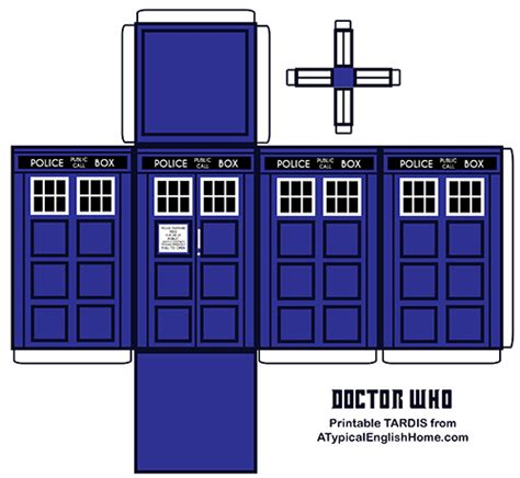 a typical english home doctor who printable tardis and