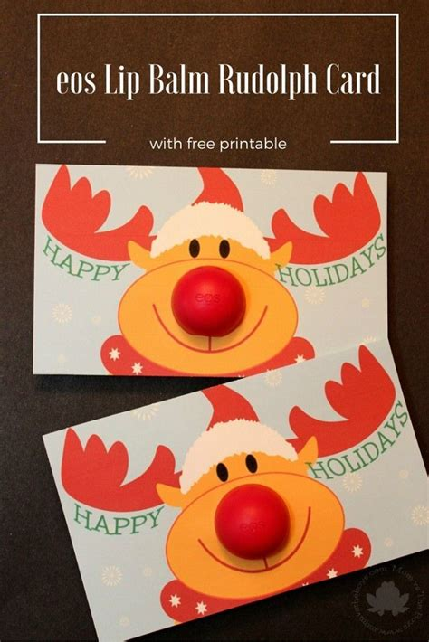 Eos Reindeer Card Free Template by Eos Lip Balm Rudolph Gift Printable And A Chance To Win An