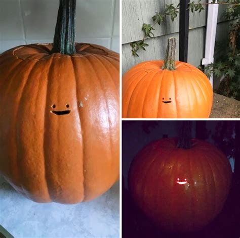 this jack o lantern s tiny face is the laziest pumpkin carving ever bored panda