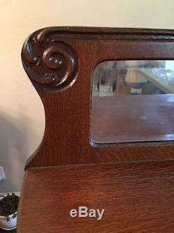 Antique Tiger Oak Claw Foot Curved Glass China Curio