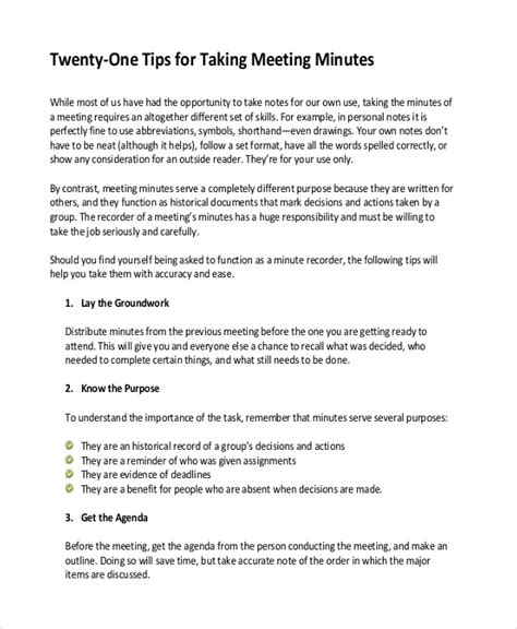 template for taking meeting minutes taking minutes template 10 free word pdf documents