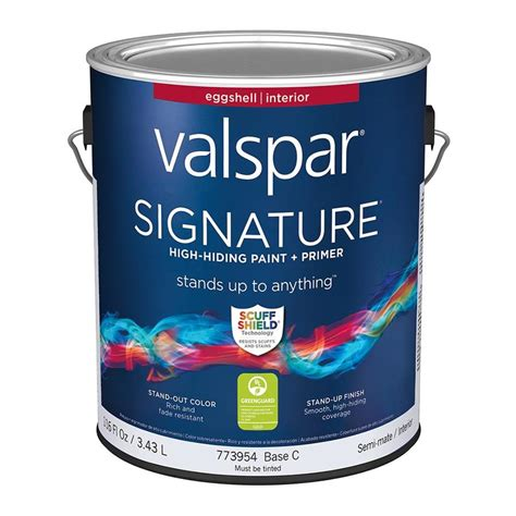 shop valspar signature eggshell interior paint and primer in one actual net contents 116