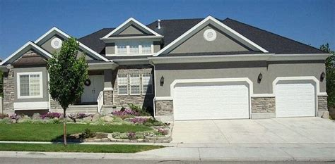 gray stone house grey stone and stucco exterior houses google search house ideas pinterest