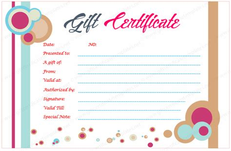 gift card image template gift certificate templates
