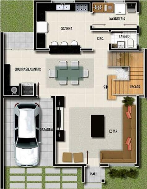 plantas de casa 12 modelos de casas garagem na planta