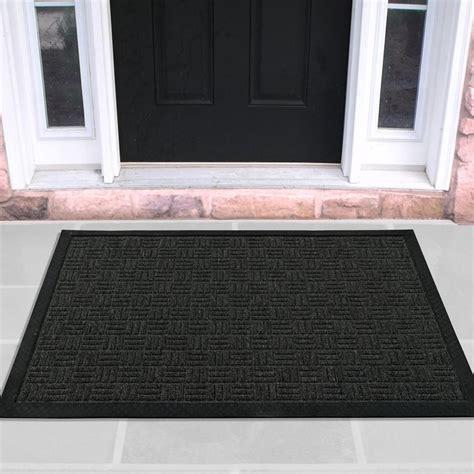 Door Doormat ottomanson charcoal 24 in x 36 in loop carpet