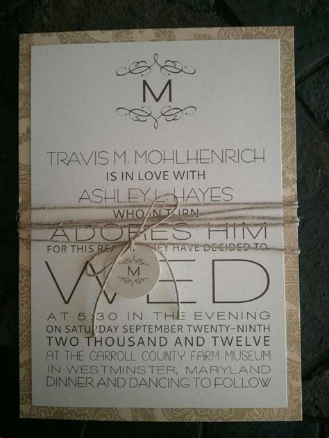 country wedding invitations wedding invitations october 2013
