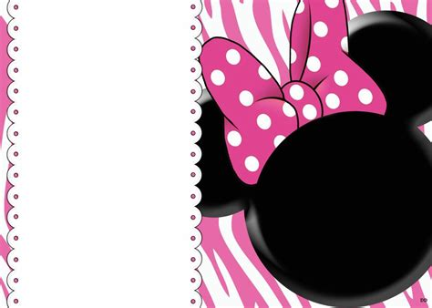 minnie mouse invitation template free blank invites minnie mouse