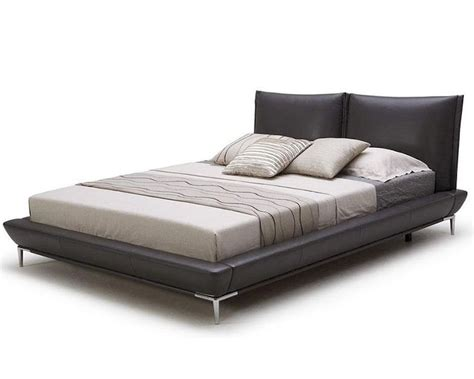 gray platform bed modern grey full leather platform bed 44b179bd