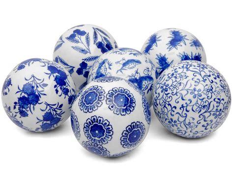 blue decorative balls australia decorative ceramic balls blue white home design ideas