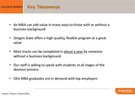 State Mba Flex by Oregon State Mba Overview