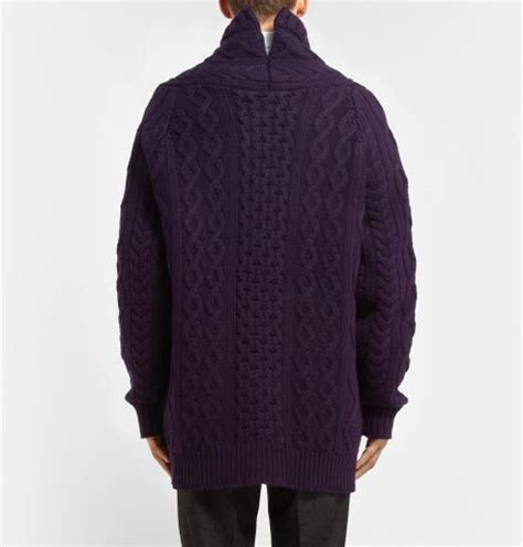oversized cable knit cardigan burberry prorsum oversized chunky cable knit