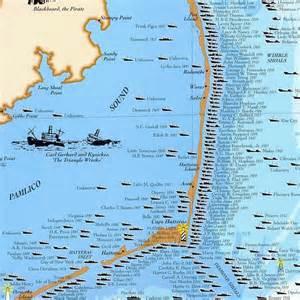 carolina shipwreck map shipwrecks of the outer banks carolina maps from