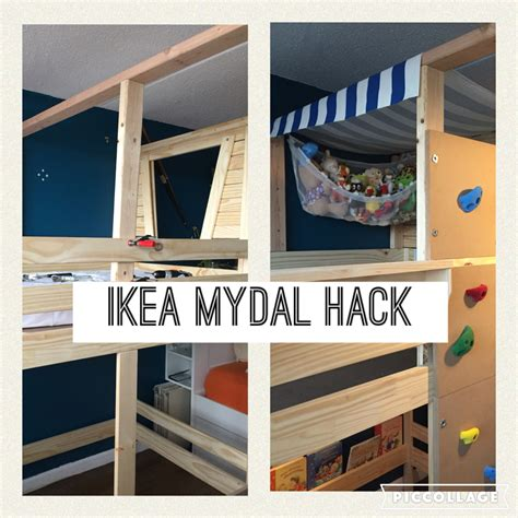 Pirate Ship Bunk Bed Ikea Mydal Bunk Bed Turned Toddler Pirate Ship Added Blue Striped Fabric As Roof Swing Chair