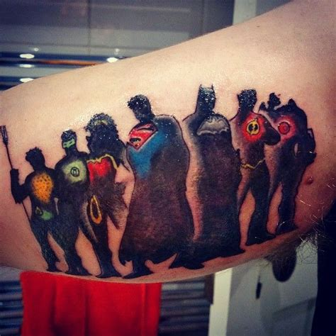 justice league tattoos 70 best tats images on