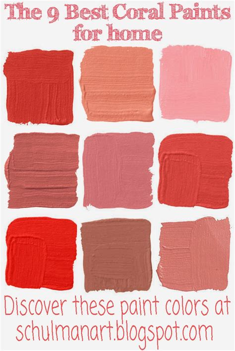 for the inspiration place the best 9 coral color paint shades
