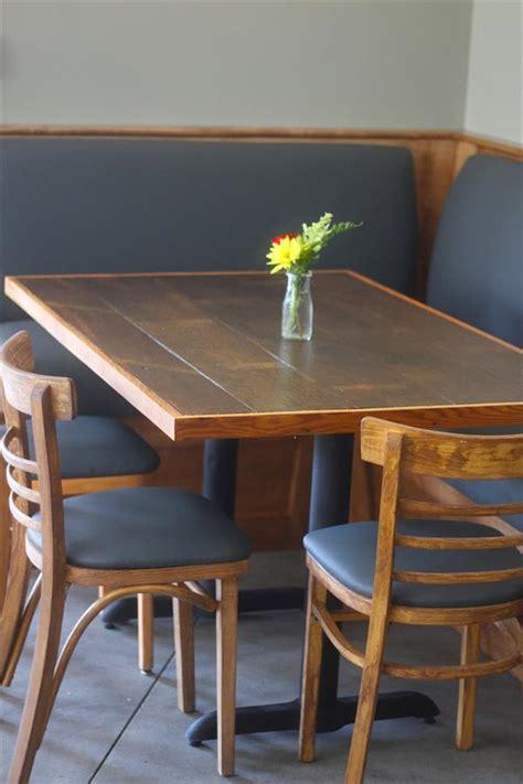 diy pallet dining table with metal base pallet furniture