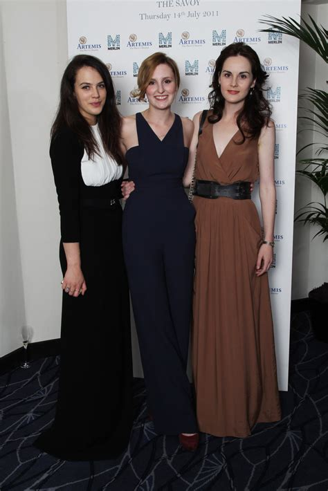 at the an evening with downton abbey event at the television academy laura carmichael and michelle dockery photos photos an