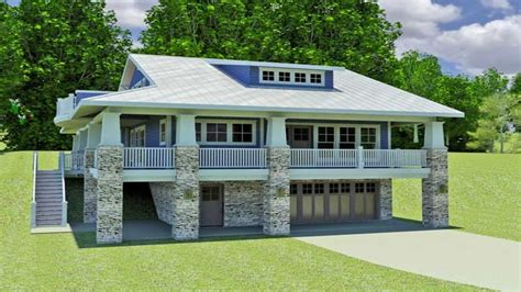 hillside walkout basement house plans hillside home plans with walkout basement small hillside