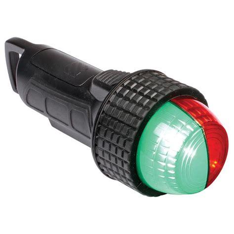 battery powered led boat lights west marine deck mount portable led bi color navigation