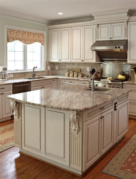 How To Paint Antique White Kitchen Cabinets Step By Step White Antique Kitchen Cabinets