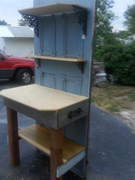turn   wood door   potting bench diy projects