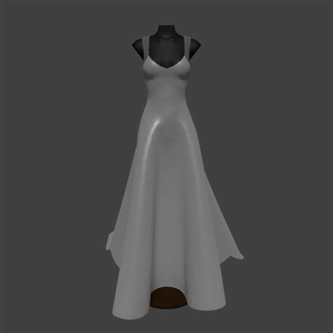 Blender Wedding Animation by A Line Wedding Dress 3d Model Cgtrader