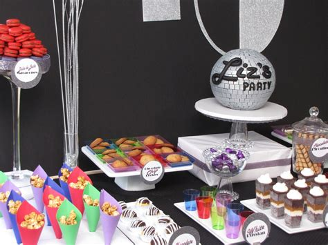 themed party disco the treat table disco themed 40th birthday