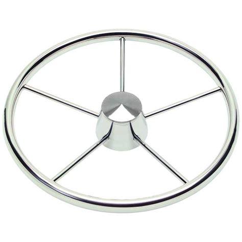 marine steering wheel removal schmitt marine steering stainless steel destroyer wheel