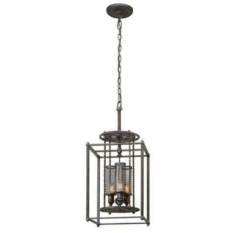 Aged Pewter Light Fixtures Troy Lighting Atlas 3 Light Aged Pewter Pendant F3833 The Home Depot