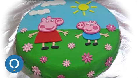 Peppa Pig Birthday Cake: Decorating with fondant   YouTube