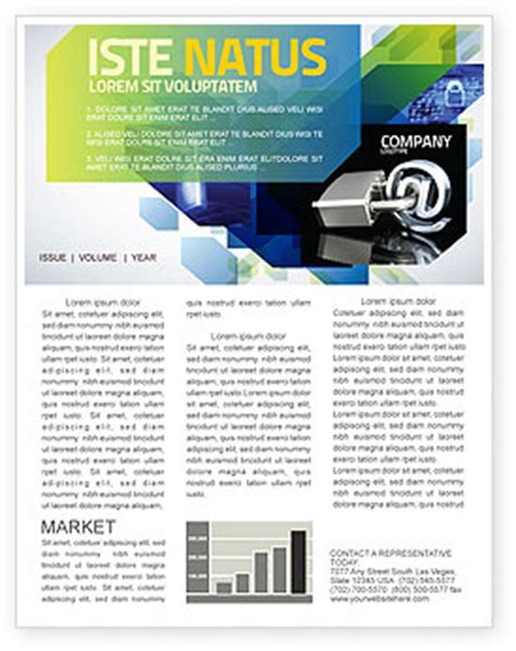 technology newsletter template secure sale poster template in microsoft word