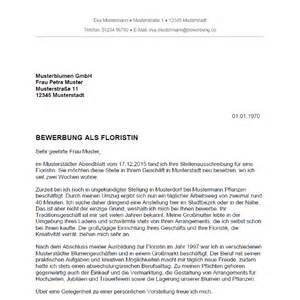 Anschreiben Bewerbung Ausbildung Floristin Bewerbung Als Floristin Florist Bewerbung Co
