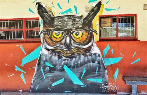 spray painter in durban giffy duminy professional artist owl reading glasses
