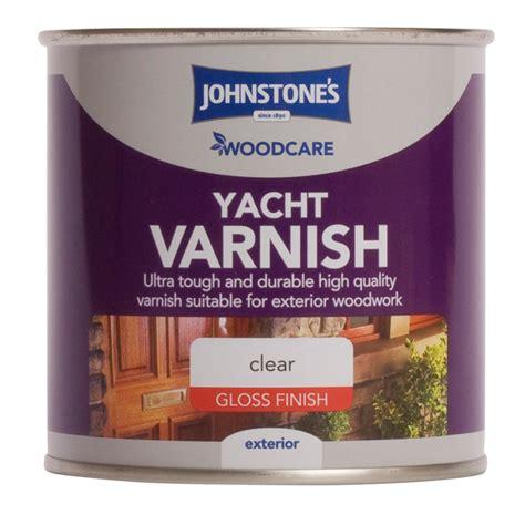 yacht varnish johnstone s paint woodcare yacht varnish clear gloss 750ml