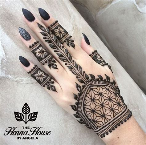 collection of 25 black henna designs on