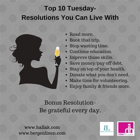 bergen linen top ten tuesday new year s resolutions for 2017