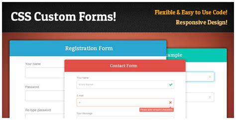design html form using css responsive css forms set validation by d atanasov